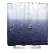A Fleet Of U.s. Navy And Japan Maritime Shower Curtain