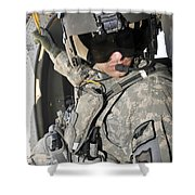 A Flight Medic Conducts A Daily Shower Curtain