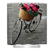 A Flower Delivery Shower Curtain