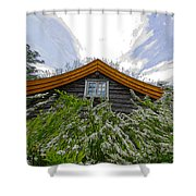 A Flowery House In Norway Shower Curtain