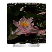 A Fractual Lily Shower Curtain
