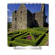 A Garden In Front Of Tully Castle Near Shower Curtain