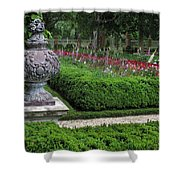 A Garden View Shower Curtain