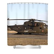 A German Ch-53gs Helicopter At Stendal Shower Curtain