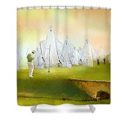 A Ghost Of A Chance Shower Curtain