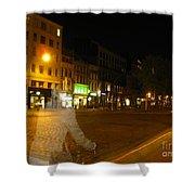 A Ghost Of Antwerp. Belgium. Shower Curtain
