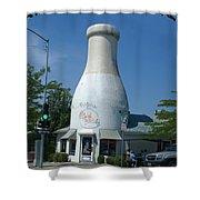 A Giant Milk Bottle In Spokane Shower Curtain