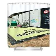 A Giant Sized Game Of Monopoly Shower Curtain