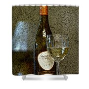 A Glass For Dinner Shower Curtain