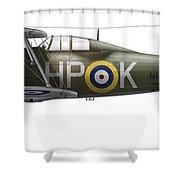 A Gloster Gladiator Mk II Shower Curtain by Chris Sandham-Bailey