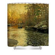 A Golden Autumn At The Unami Shower Curtain