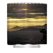 A Golden Morning Creation  Shower Curtain