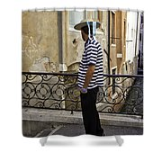 A Gondolier In Venice Shower Curtain
