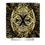 A Gothic Guise Of Gold Shower Curtain