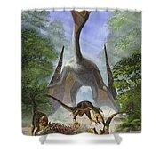 A Group Of Balaur Bondoc Dinosaurs Shower Curtain