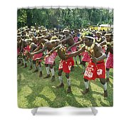 A Group Of New Guinean Men Performing Shower Curtain