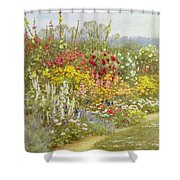 A Herbaceous Border Shower Curtain