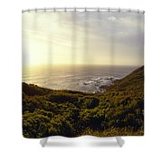 A Hidden Roof Top Overlooks A Scenic Shower Curtain
