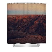A Hot Desert Evening Shower Curtain