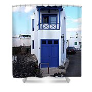 A House In El Golfo Shower Curtain