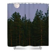 A Huge Moon, With Features Clearly Shower Curtain