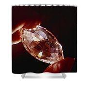 A Huge Nine-carat Diamond Glistens Shower Curtain