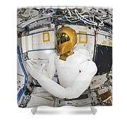 A Humanoid Robot In The Destiny Shower Curtain by Stocktrek Images
