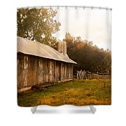 A Hut To Call Home Shower Curtain