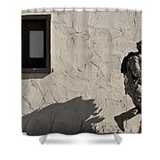 A Joint Tactical Air Controller Shower Curtain