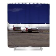 A Kc-135 Stratotanker At Hickham Air Shower Curtain