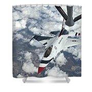 A Kc-135 Stratotanker Refuels An Air Shower Curtain