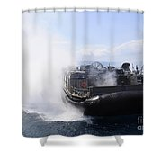 A Landing Craft Air Cushion Travels Shower Curtain