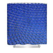 A Large Metal Mesh Shower Curtain