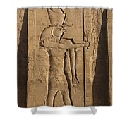 A Large Relief Of The God Horus Shower Curtain
