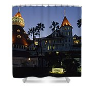 A Late Afternoon View Of The Hotel De Shower Curtain