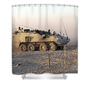 A Lav IIi Infantry Fighting Vehicle Shower Curtain