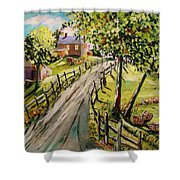 A Light Summer Breeze Shower Curtain