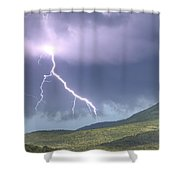 A Lightning Bolt From A Thunderstorm Shower Curtain