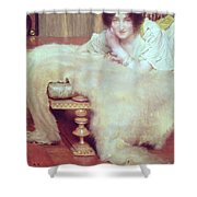 A Listener - The Bear Rug Shower Curtain
