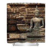 A Little Buddha Shower Curtain