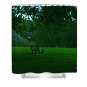 A Lonely Autumn Bench  Shower Curtain