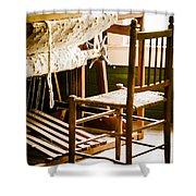 A Loom For Grandma Shower Curtain by Carolyn Marshall