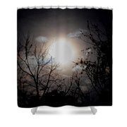 A Lunar Silhouette Shower Curtain