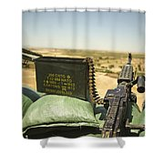 A M240b Medium Machine Gun Shower Curtain