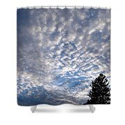 A Mackerel Sky Shower Curtain