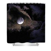 A Magical Moon Shower Curtain