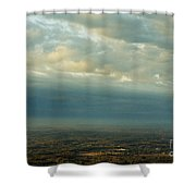 A Majestic Birds Eye View Shower Curtain