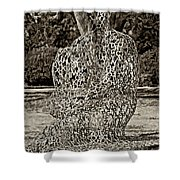 A Man Of Letters Sepia Shower Curtain