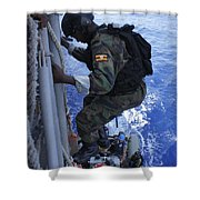 A Marine From The Uganda People's Shower Curtain