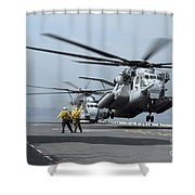 A Marine Mh-53 Helicopter Takes Shower Curtain